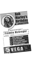 Poster Design, Bob Marley´s Birthday at VEGA, Copenhagen