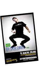 Poster Design - DJ Dolores at Kulturmaskinen