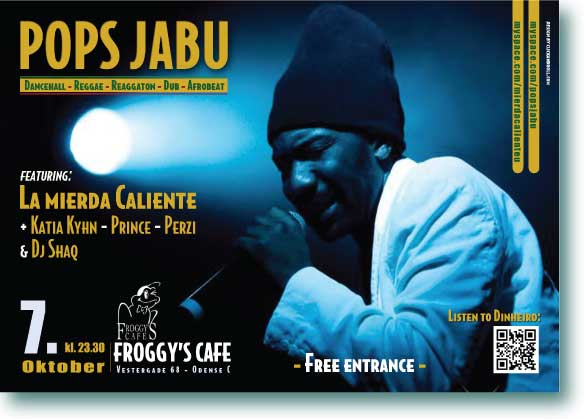 Poster Design for Pops Jabu´s performance in Odense