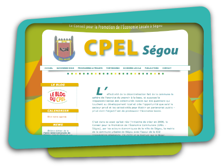 Web Design, Information Architecture, HTML CSS for CPEL Ségou, Mali