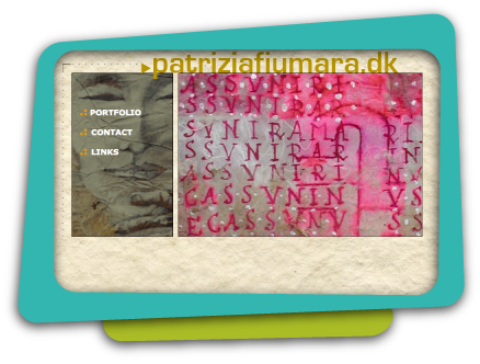 Web Design for Patrizia Fiumara, Artist